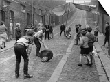 Children Playing Cricket in the Back Streets of Newcastle  1962