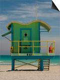 Lifeguard Station on 8th Street  South Beach  Miami  Florida  USA