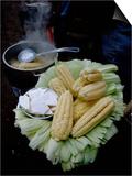 Corn on the Cob with Local Cheese  Ollantaytambo  Peru