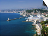Aerial View of the Port  Nice  France