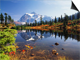 Mt Shuksan with Picture Lake  Mt Baker National Recreation Area  Washington  USA