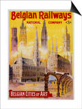 Belgian Railways - Belgian Cities of Art Poster