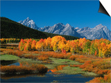 Mt Moren  Oxbow Bend  Grand Tetons National Park  Wyoming  USA