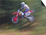 Motocross Racer Airborne