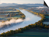 Connecticut River at Dawn As Seen From South Sugarloaf Mountain  Deerfield  Massachusetts  USA