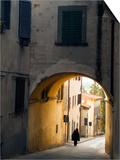 Person and Archway  Panzano  Chianti Region  Tuscany  Italy