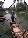 Woman Rowing  Mekong Delta  Vietnam