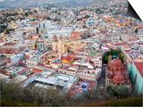 Historic City Center with Church of San Diego  Basilic and University  Guanajuato  Mexico