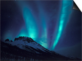 Aurora Borealis Above the Brooks Range  Gates of the Arctic National Park  Alaska  USA