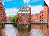 Waterfront Warehouses in the Speicherstadt Warehouse District of Hamburg  Germany