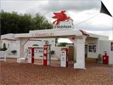 Vintage Mobil Gas Station  Ellensburg  Washington  USA