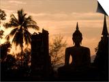 Buddha Statue and Sunset  Thailand