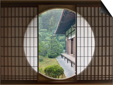 Tea House Window  Sesshuji Temple  Kyoto  Japan