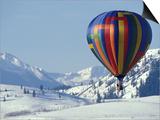 Hot Air Ballon and the North Cascade mountains  Methow Valley  Washington  USA