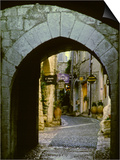 Street Corner and Archway  St Paul de Vence  France