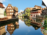 Timbered Buildings  La Petite France Canal  Strasbourg  Alsace  France