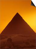 Pyramid of Khafre and Sphinx  Giza Plateau  Old Kingdom  Egypt