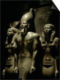 Pharaoh Menkaure with Two Goddesses  Egyptian Museum  Cairo  Egypt
