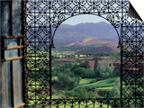 View through Ornate Iron Grille (Moucharabieh)  Morocco