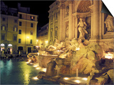 Trevi Fountain at Night  Rome  Italy