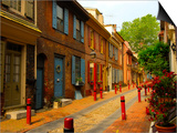 Elfreth's Alley  Philadelphia  Pennsylvania  USA