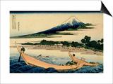 36 Views of Mount Fuji  no 28: Shore of Tago Bay  Ejiri at Tokaido