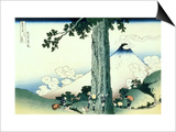 36 Views of Mount Fuji  no 16: Mishima Pass in Kai Province