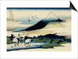 36 Views of Mount Fuji  no 14: Umegawa in Sagami Province