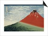 36 Views of Mount Fuji  no 2: Mount Fuji in Clear Weather (Red Fuji)