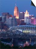 Cincinnati and Ohio Rvier  Ohio  USA