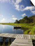 Sengekontacket Pond  Oak Bluffs  Martha's Vineyard  Massachusetts  USA