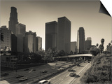California  Los Angeles  Downtown and Rt  110 Harbor Freeway  USA