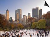 Wollman Icerink at Central Park  Manhattan  New York City  USA
