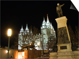 Utah  Salt Lake City  Mormon Theatre Monument in Honour of Brigham Young and the Pioneers  USA