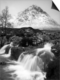 Coupall Falls and Buachaille Etive Mor in Winter  Glencoe  Scotland  UK