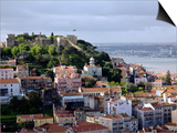 Lisbon  the Castelo Sao Jorge in Lisbon with the Rio Tejo in the Background  Portugal