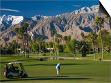 California  Palm Springs  Desert Princess Golf Course and Mountains  Winter  USA