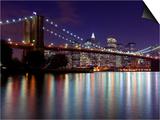 New York City  Manhattan  Brooklyn Bridge and Downtown Manhattan  USA