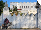 Zanzibari Man and His Bicycle  Stone Town  Zanzibar  Tanzania