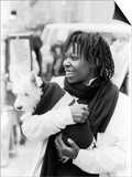 Comedian Whoopi Goldberg with Her Scottish Terrier Otis