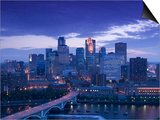 Skyline of Minneapolis  Minnesota  USA