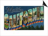 Malibu  California - Large Letter Scenes