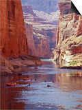 Arizona  Grand Canyon  Kayaks and Rafts on the Colorado River Pass Through the Inner Canyon  USA