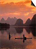 Cormorant Fishermen  Li River  Yangshuo  Guangxi  China