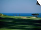 Golfers Play on the Championship Course  Algarve  Portugal