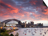 View over Lavendar Bay Toward the Habour Bridge and the Skyline of Central Sydney  Australia
