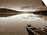 Boat on Lake in New Hampshire  New England  USA