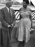 Billie Holliday and Author William Faulkner - 1956