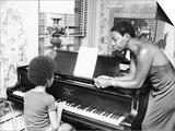 Nina Simone and daughter - 1971