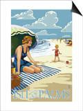 Isle of Palms  South Carolina - Beach Scene